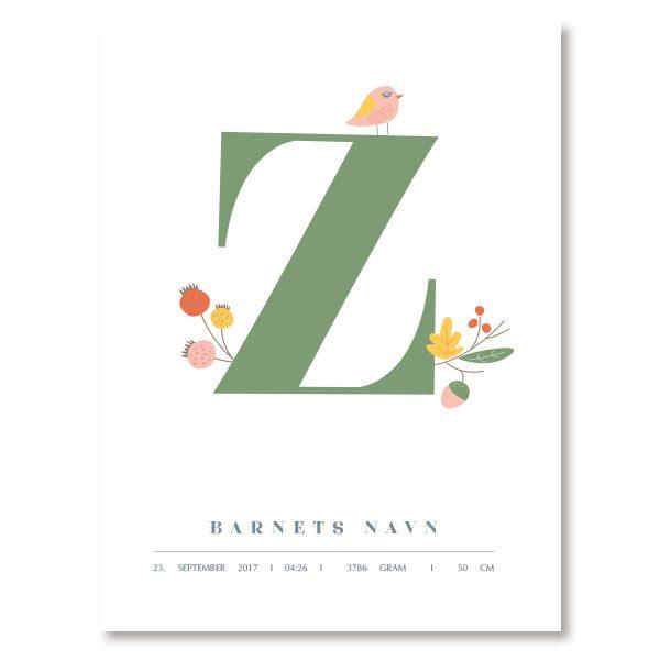 Lag navneplakat Z