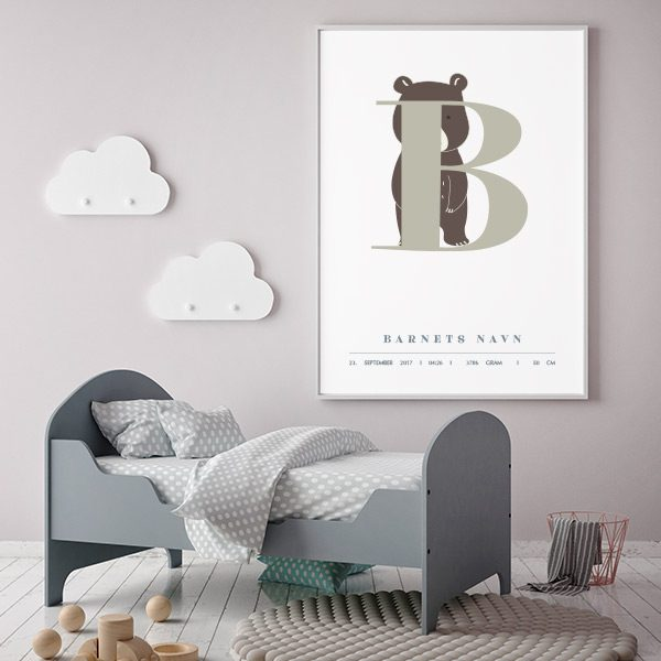 Fødselsplakat B