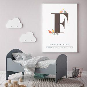 Fødselsplakat F