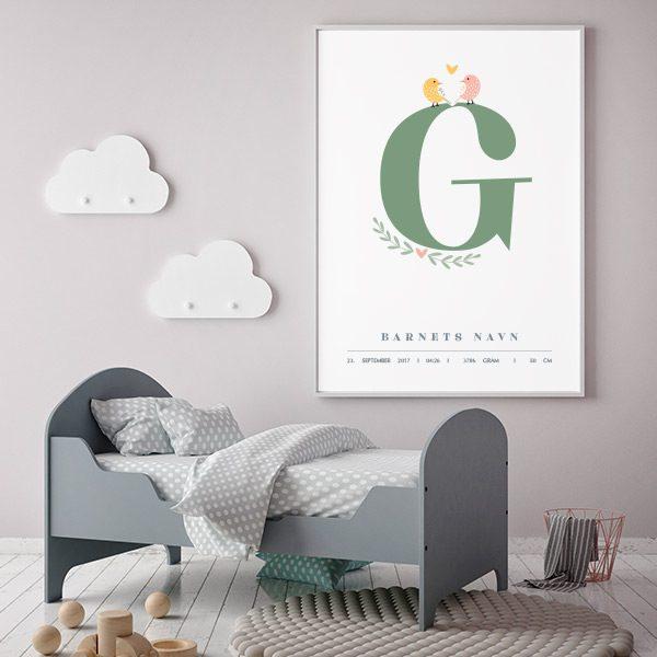 Fødselsplakat G