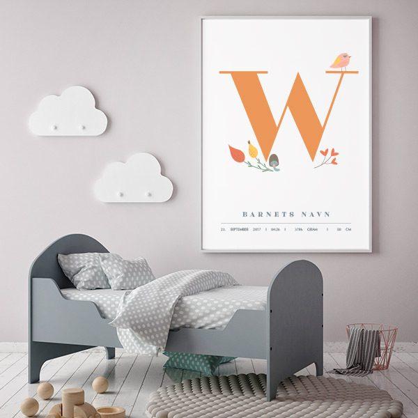 Fødselsplakat W