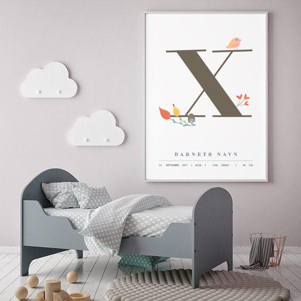 Fødselsplakat X