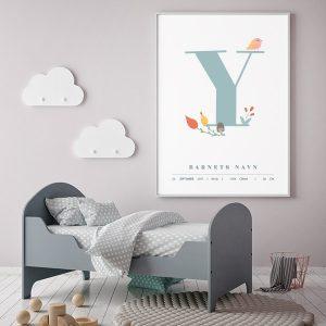 Fødselsplakat Y