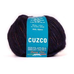 Bluum strikk til dame - Hanne-genser i Cuzco Dark blue XXL