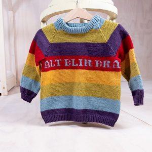 Bluum strikkegenser - Regnbue - i Pure Eco baby Wool