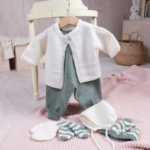 Bluum babysett - Hjerte - i Pure Eco baby Wool