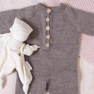 Bluum strikkedress med raglan i Pure Eco Baby Wool