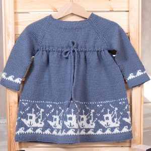 Bluum strikkekjole - Fiskebåt - Pure Eco Baby Wool