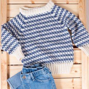 Bluum strikkegenser - Oskar-genser i Zarina