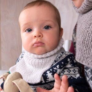 Bluum strikkehals - barn i Solo Cashmere