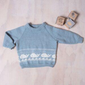 Bluum strikkegenser - Hval-genser i Pure Eco baby Wool