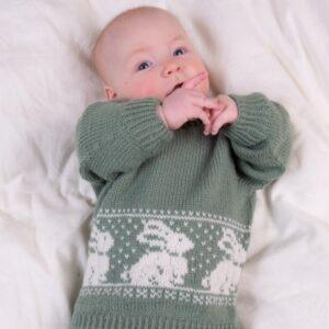 Bluum strikkegenser - Kanin i Pure Eco Baby Wool