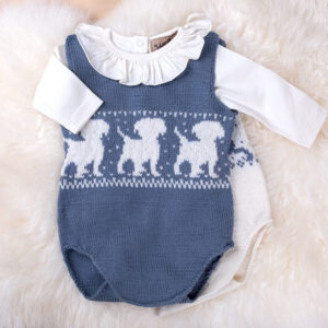 Bluum strikkebodyer - 2 stk Bambi+Hund i Pure Eco Baby Wool