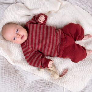 Bluum strikkesett - Striper genser og bukse i Zarina