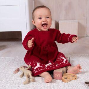 Bluum strikkekjole - Reinsdyrkjolen i Pure Eco Baby Wool