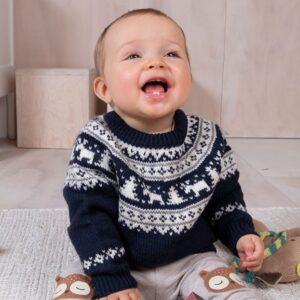 Bluum strikkegenser - Vinternatt i Pure Eco Baby Wool