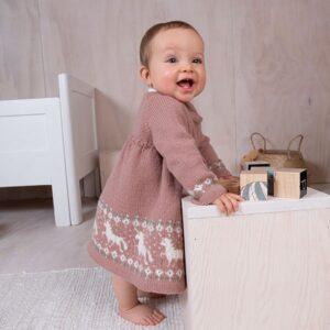 Bluum strikkekjole - Enhjørning i Pure Eco Baby Wool