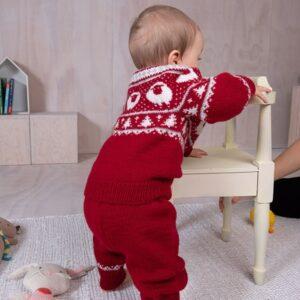 Bluum strikkesett - Billebæ jakke og bukse i Pure Eco Baby Wool