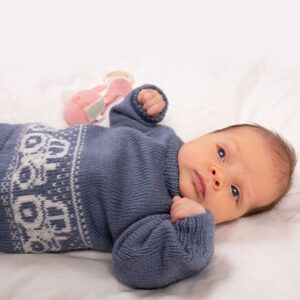 Bluum strikkegenser - Traktorgenseren i Pure Eco Baby Wool