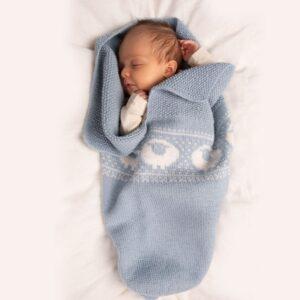 Bluum strikk - Kosepose Billebæ i Pure Eco Baby Wool