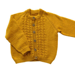 Bluum strikkejakke - Hardanger i Pure Eco Baby Wool