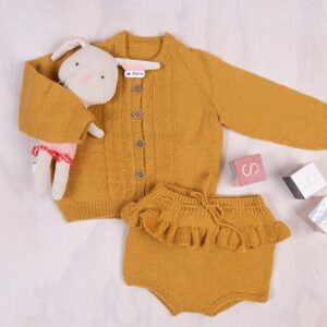 Bluum strikkejakke og bloomer - Hardanger i Pure Eco Baby Wool