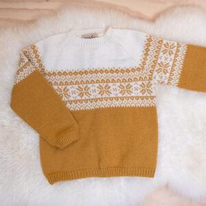 Bluum strikkegenser - Stjerne i Pure Eco Baby Wool