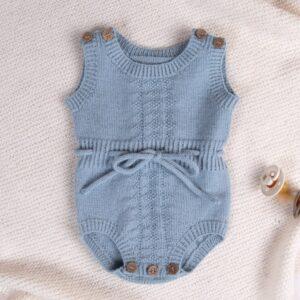 Bluum strikkerompere med bånd - Hardanger 2 stk i Pure Eco Baby Wool