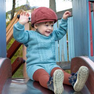 Bluum strikkegenser og bloomer - Hardanger i Pure Eco Baby Wool