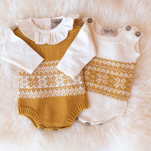 Bluum strikkebodyer - 2stk Stjerne i Pure Eco Baby Wool