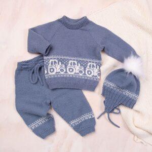 Bluum strikkesett - Traktor i Pure Eco Baby Wool