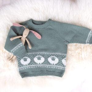 Bluum strikkegenser - Billebæ i Pure Eco Baby Wool