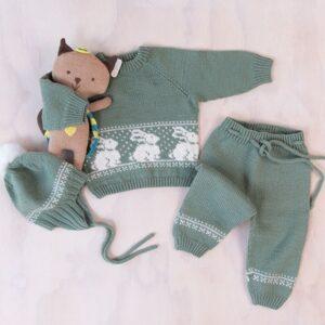 Bluum strikkesett - Kanin i Pure Eco Baby Wool