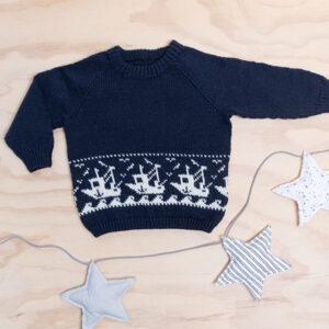 Bluum strikkegenser - Fiskebåt i Pure Eco Baby Wool