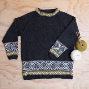 Bluum strikk - Elin-genser i Pure Eco Baby Wool