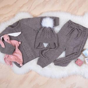 Bluum strikkesett - Flette i Pure Eco Baby Wool