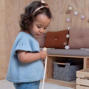 Bluum strikk - Sommerfugltopp i Pure Eco Baby Wool - Sirissima strikk