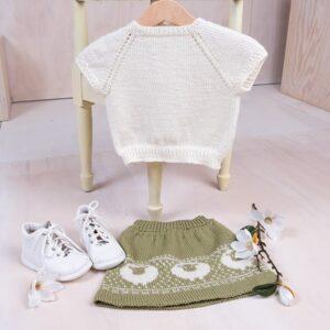 Bluum strikkeskjørt og topp - Billebæ i Pure Eco Baby Wool