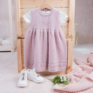 Bluum strikkekjole - Hjerte i Pure Eco Baby Wool