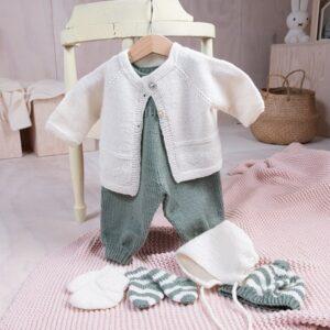 Bluum babysett - Hjerte i Pure Eco Baby Wool