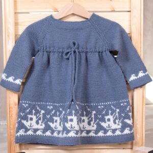Bluum strikkekjole - Fiskebåt i Pure Eco Baby Wool