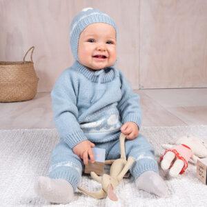 Bluum strikkesett - Hval i Pure Eco baby Wool