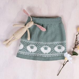 Bluum strikkeskjørt - Billebæ i Pure Eco Baby Wool
