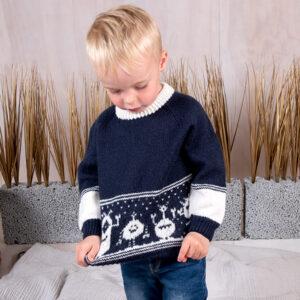 Bluum strikkesett - Monstergenser og lue i Pure Eco baby Wool