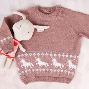 Bluum strikkegenser - Enhjørning i Pure Eco Baby Wool