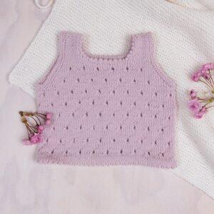 Bluum strikk - 2 stk singlet i Pure Eco Baby Wool