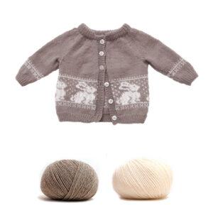 Bluum strikk - Kanin-jakke i Pure Eco Baby Wool