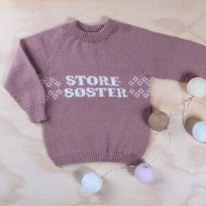 Bluum strikk - Storesøster-genseren i Pure Eco Baby Wool