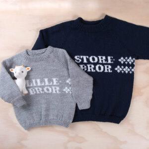 Bluum strikk - Lillebror-genseren i Pure Eco Baby Wool