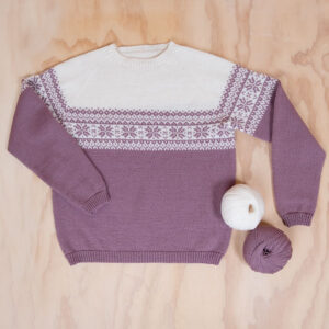 Bluum strikk til dame - Stjerne-genser i Pure Eco Baby Wool